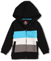 Quiksilver Crazy Straw Full Zip Fleece Hoodie (Toddler/Little Kids) (Black) - Apparel