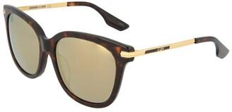 Alexander McQueen Women's Mq0056s 57Mm Sunglasses