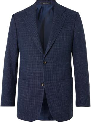 Richard James Checked Wool, Silk And Linen-Blend Blazer