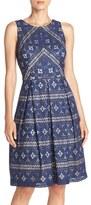 Eliza J Women's Lace Fit & Flare Dress