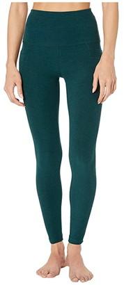 Beyond Yoga Spacedye High Waisted Pocket Midi Legging (Darkest Night) Women's Casual Pants