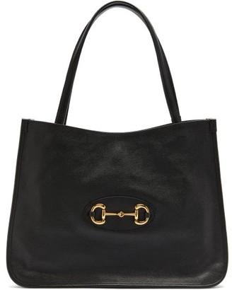 Gucci Horsebit 1955 Leather Tote - Black