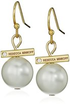 Rebecca Minkoff Small Simulated Pearl Bead Drop Earrings