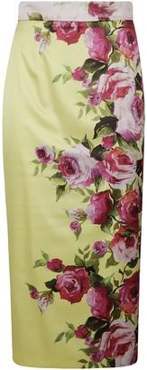 Blumarine Floral Print Skirt