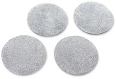 Kate Aspen 16ct Silver Glitter Coaster Set
