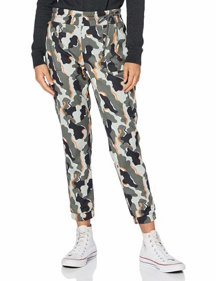 Street One Women's 373352 Cargohose Style Bonny Loose Fit Camouflage Trouser