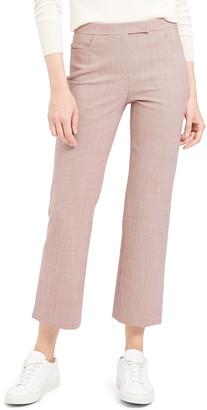 Theory Cropped Wool Straight-Leg Pants