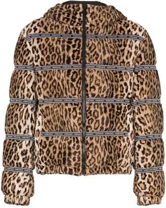 Versace leopard print puffer jacket