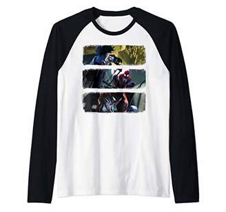 Marvel Spider-Man Comic Panels Raglan Baseball Tee
