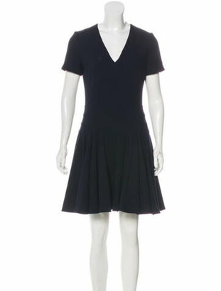 Christian Dior Virgin Wool Dress Navy