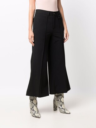 Closed Flared Pressed Crease Trousers