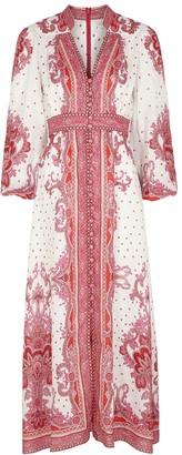 Zimmermann Bells printed linen maxi dress