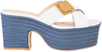 Jacquemus Criss Cross Strap Wedge Sandals
