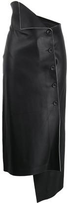 The Row Verna asymmetric wrap skirt