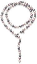 "Majorica 10MM Multicolor Round Pearl & Sterling Silver Strand Necklace/35"""