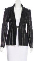 Celine Leather Paneled Jacket