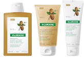 Klorane Dry, Damaged Hair Set: Shampoo, Conditioner & Leave-In Cream with Desert Date
