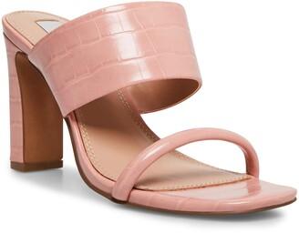 STEVEN NEW YORK Jive Croc Embossed Slip On Sandal