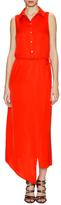 Marissa Webb Sabine Silk Wrapped Sleeveless Shirt Dress