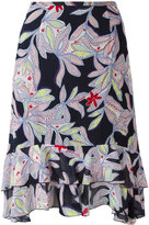 See by Chloe floral pattered skirt - women - Silk/Cotton - 36