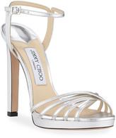 Jimmy Choo Lilah Metallic Leather High-Heel Sandals