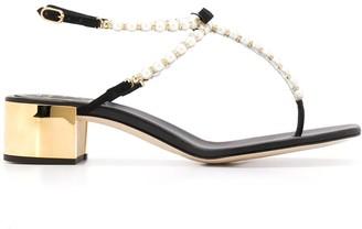 Rene Caovilla embellished thong strap sandals