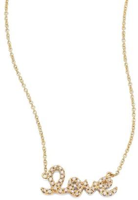 Sydney Evan Small Love Diamond & 14K Yellow Gold Pendant Necklace