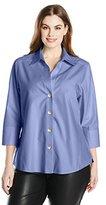 Foxcroft Women's Plus-Size Non-Iron Three-Quarter Sleeve Shirt