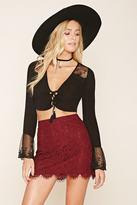 Forever 21 Eyelash Lace Mini Skirt