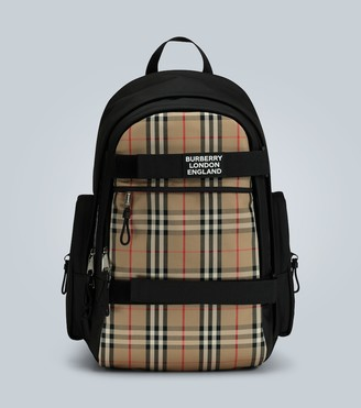 Burberry Nevis large check-paneled backpack