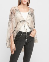 Express Snakeskin Print Cocoon Cover-Up