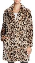 BB Dakota Rooney Faux-Fur Leopard Coat