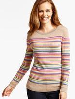 Talbots Blocked Multistriped Sweater