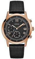 GUESS GUESS? Men's SUMMIT 44mm Leather Band Steel Case Quartz Watch W1000G4