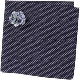 Original Penguin Seyne Dot Pocket Square & Lapel Pin Set