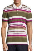 Salvatore Ferragamo Horizontal Striped Polo