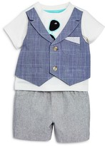 Miniclasix Boys' Sunglasses Vested Tee & Shorts Set - Baby