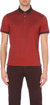 HUGO BOSS Contrast-trim cotton-jersey polo shirt
