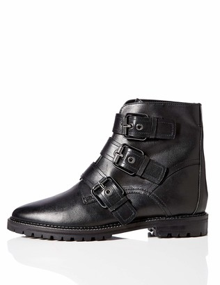 Find. Amazon Brand Three Buckle Leather Biker Ankle Boots