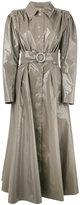 Alessandra Rich long vinyl trench coat