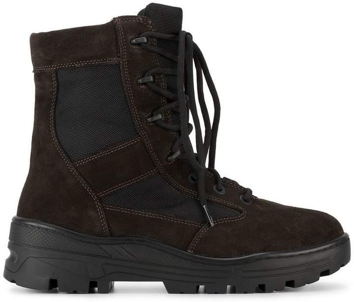 Yeezy Black Lace Up Combat Boots