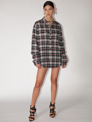 DSQUARED2 Lvr Exclusive Cotton Check Shirt