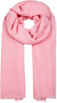 Denis Colomb Pink Woven Cashmere Scarf