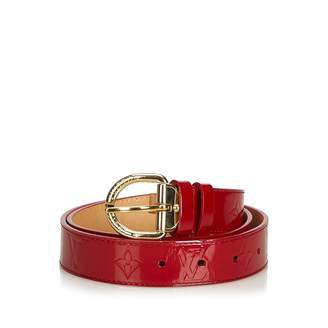 Louis Vuitton \N Burgundy Patent leather Belts
