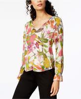 Trina Turk Magnolia Floral-Print Top