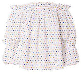 Caroline Constas Gia Embroidered Dot Off-The-Shoulder Top
