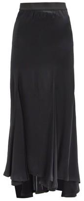 Ann Demeulemeester Asymmetric-hem Georgette Maxi Skirt - Black