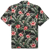 Gitman Brothers Camp-collar Floral-print Cotton-blend Shirt - Multi