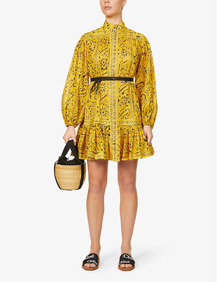 Zimmermann Lulu puff-sleeved cotton mini dress