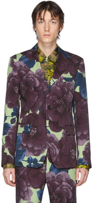 Dries Van Noten Multicolor Wool Floral Blazer